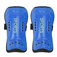 Domybest Ultra Light Soft Football Shin Pads Soccer Guards Sports Leg Protector Kids Blue