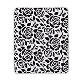 ALAZA Black and White Flower Rose Crystal Velvet Throw Blanket for Bed 50 x 60 inch Kids Baby Girls Colorful Painting Couch Blanket Throw Decor