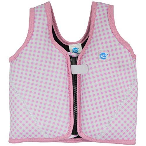 gilet-a-flotteurs-neoprene-avec-flotteurs-ajustables-1-3-ans-carreaux-rose-et-blanc