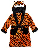 Boys TIGER Animal Face Hooded Fleece Dressing Gown Bathrobe sizes from 2 to 13 Years