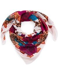 style3 Klassisches Damen-Halstuch mit Blumen-Ornamenten in eleganten und kräftigen Farben