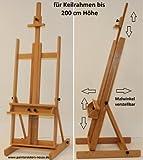 Stabile Studio Staffelei 147 aus Buchenholz - für Keilrahmen bis 200cm