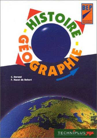 Histoire-géographie BEP, seconde professionnelle