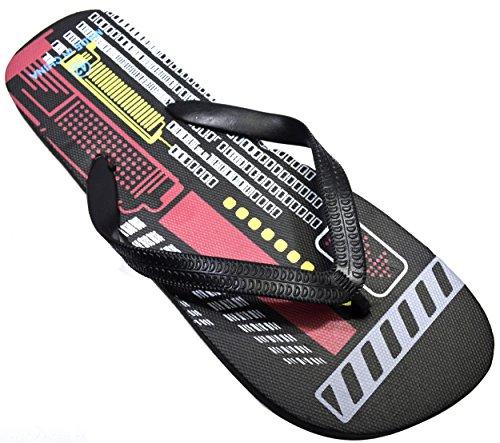 911a5afa8d2d OCTAVE® Mens Summer Beach Wear Flip Flops Collection - Techno Design  Size.