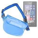 DURAGADGET Riñonera Azul Para Smartphone Nokia Lumia 520 / 521 / 630 - Resistente Al Agua - ¡Ideal