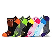 Teehee Women Cushioned Low Cut Socks 6-Pack (Stripe & Mash Top)