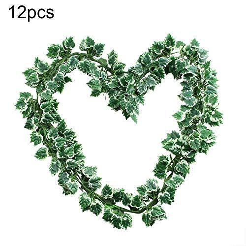 Keyren Künstliche Traube Ivy Leaf Trim Vine gefälschte Laub Blume Pflanze Home Hochzeit Dekor - Ivy Leaf Trim