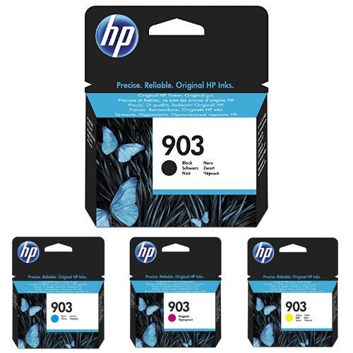 HP 903 negro/cian/magenta/amarillo Cartuchos de Tinta original para impresora HP Officejet, HP Officejet Pro