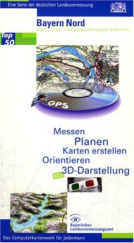 Top50 Bayern. Mit Digitalem Geländemodell. 3D-Darstellung: Nord