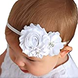 SpirWoRchlan Kleinkind Baby Mädchen Faux Flower Pearl Taufe Stirnband Kopfschmuck Foto Requisiten Haarschmuck #2
