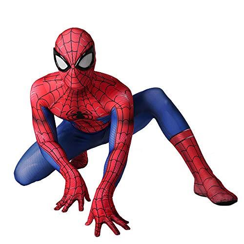 Spiderman Kostüm Kinder, Spiderman Kostüm Erwachsene Männer - Cosplay Kostüm Halloween Iron Bodysuit Anzug Overalls Für Kinder Erwachsene,Adult-XL