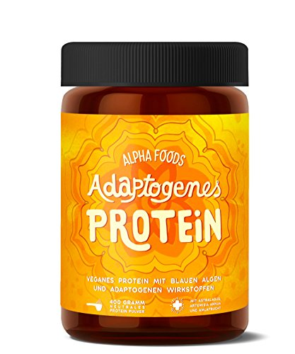 Adaptogenes Protein | Aktiviertes veganes Protein aus biofermentierten Reis und Erbsen | Mit Astragalus, Annua und Amla | 400 Gramm geschmacksneutrales Pulver