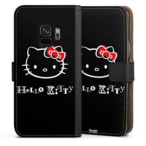 DeinDesign Tasche kompatibel mit Samsung Galaxy S9 Leder Flip Case Ledertasche Hello Kitty Merchandise Fanartikel Love