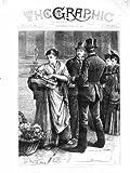 sc?ne 1872 de rue de vendeuse de demoiselle de honneur de londres angleterre