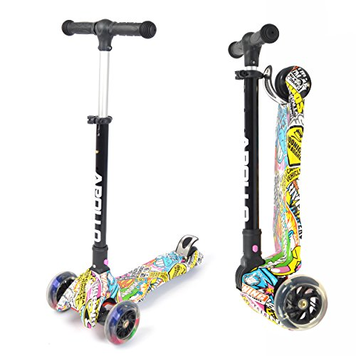 Apollo Scooter Candy Racer - Kinderroller ab 4-5 Jahren, Faltbarer Kinderscooter