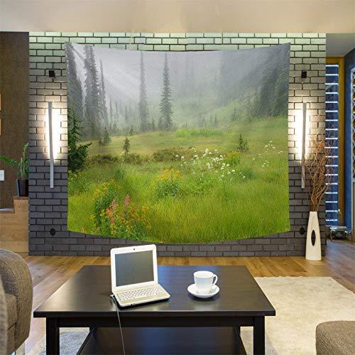 GUOXAOHAO Wandteppich Einzigartige Landschaft Sonnenaufgang Wandteppich Wandbehang Wandteppiche Wald Wandbehang Tagesdecke Yogamatte Decke Bett Tischdecke, 10.145x200cm (Needlepoint Einfach Kits)