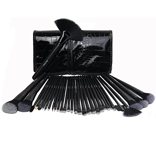 imurz® Élégant souple 32 pièces Kit de Pinceau maquillage Professionnel Ombre à paupières Eyeliner Poudre à lèvres Pinceaux pour maquillage professionnel Girl