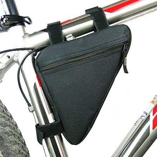 Hrph Wasserdichte Outdoor-Dreieck Radfahren Fahrrad Frontseiten -Schlauch Rahmentasche Mountain Bike Tool Kit Pouch Black