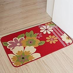 Lnxd Fußmatte Kissen Wasser absorbierenden Matten Küche WC Badezimmer rutschfeste Matte Teppich kann angepasst werden. 48 x 78 cm Rhododendron simsii