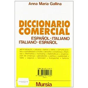 Dizionario commerciale spagnolo-italiano, italiano