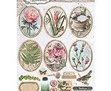 Aktenvernichter A4 Romantischen Botanischen No. 586, Studio-Licht, Dekorativer Aussparungen, Bedruckte Papiere, Scrapbooking