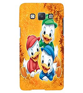 ColourCraft Lovely Cartoon Characters Design Back Case Cover for SAMSUNG GALAXY A7