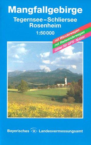 Topographische Sonderkarten Bayern. Sonderblattschnitte auf der Grundlage der amtlichen topographischen Karten, meist grössere Kartenformate mit Karten Bayern, Bl.12, Mangfallgebirge