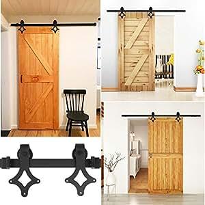 fixkit 200cm quincaillerie kit de rail pour porte coulissante hardware porte coulissante. Black Bedroom Furniture Sets. Home Design Ideas