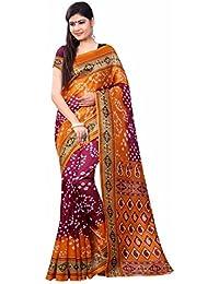 TRYme Fashion Cotton Silk Saree With Blouse Piece (699_Multi-Coloured_Free Size)