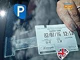 Tikettak Espositore per biglietti di parcheggio e note di casa, confezione da 3 pezzi