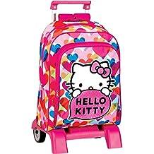 Hello Kitty - Sac à dos à roulettes Hello Kitty Pretty 43 CM trolley -Haut de Gamme - Cartable