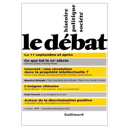 Le Débat, numéro 117, novembre-décembre 2001
