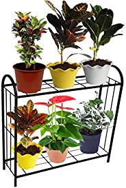 ORCHID ENGINEERS Iron Plant Stand/Pot Stand (2 Step Big, 2 Step), Black