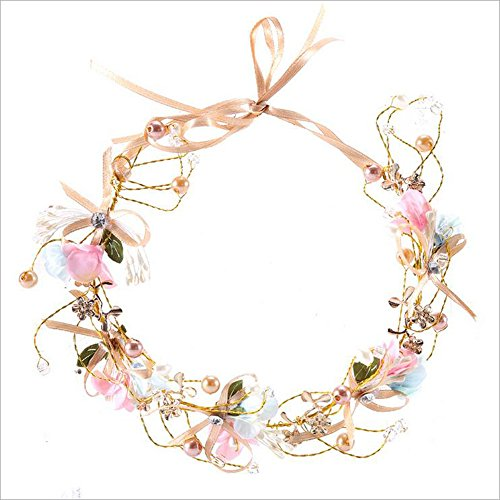 LZHA Wedding Prom Bridal Crown Hair Jewelry Rhinestone Crystal Decor Headband Veil Tiaras Party Pageant Princess Bridesmaid Hairwear Headband