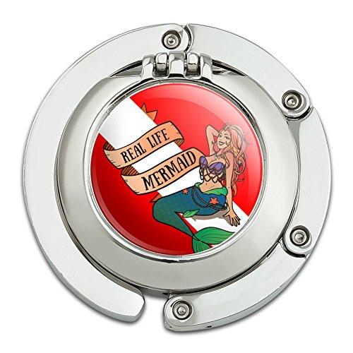 Sexy Meerjungfrau Tauchen Flagge Geldbörse Kleiderbügel Halter Haken mit Compact (Geldbörse Kleine Meerjungfrau)