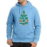 lepni.me Sweatshirt à Capuche Manches Longues Je Ne Peux Pas Garder le Calme - Je Suis Irlandais - St. Paddy Day Clothing (Medium Bleu Multicolore)