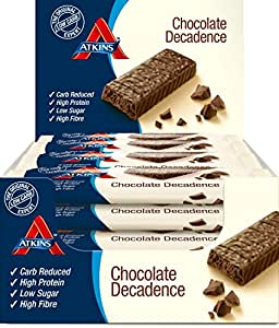 Atkins Low Carb, High Protein, Chocolate Decadence Bars, 16 x 60g