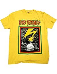5ba5b5de5 Old Skool Hooligans Bad Brains T Shirt - First Album Cover 100% Official  Yellow