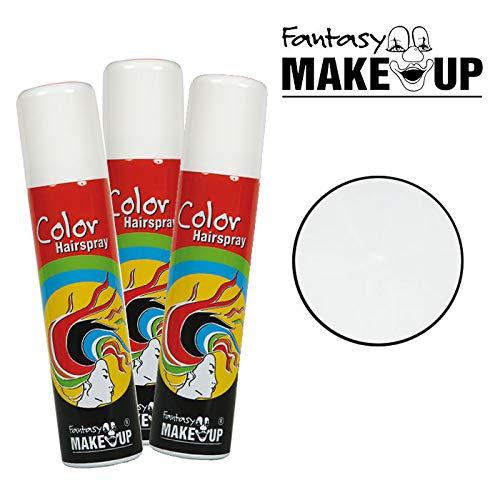 PARTY DISCOUNT® Haar-Color-Spray / Farbiges Farbiges Haarspray - lässt Sich Wieder auswaschen, - lässt Sich Wieder auswaschen, 75 ml Dose, weiß