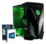 Vibox Standard 3XS Gaming PC con Gioco War Thunder, 3.1GHz AMD A8 Quad Core Processore, Radeon R7 Chip Grafico, 2TB HDD, 16GB RAM, Case Predator, Neon Verde