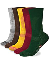 Merino Wool Hiking, Walking & Trekking Socks for Men and Women, Temperature Controlled for Summer, Soft Performance Crew Socks, Padded Cushion Reduce Blisters for Outdoor Adventures (3/1 Pairs)