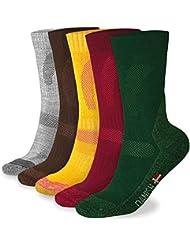 Calcetines de Senderismo de Lana Merino, para hombre y mujer, 3 o 1 pares, calcetines de trekking y montaña, térmicos para el uso diario, actividades al aire libre, transpirables, antiampollas