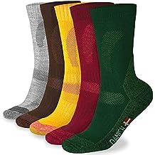 Calcetines de Senderismo de Lana Merino, para hombre y mujer, 3 o 1 pares
