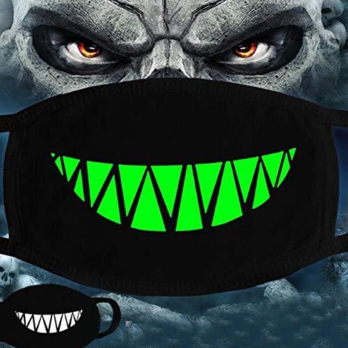 ZXIU Masken für Kostüme Frau Männer Im Dunkeln Leuchten Scarey Masken Mund Halb Gesicht Maskerade Cosplay Kostüm Maske Partydekorationen (Dunkle Maskerade Kostüm)