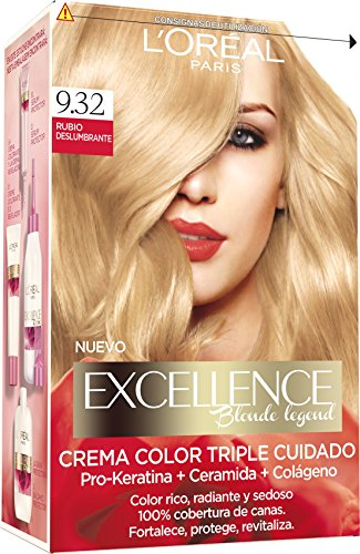 L'Oreal Tintura per Capelli, Excellence Blonde Legend, 200 gr, 9.32 Rubio Deslumbrante