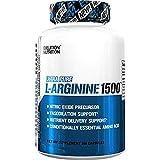 Evlution Nutrition L-Arginina 1500mg | Suplemento Puro de Óxido Nitrico | Crecimiento Muscular y Vascularidad | Energía y Estamina | Poderoso Potenciador de NO | Amino Ácidos Esenciales | 100 Cápsulas