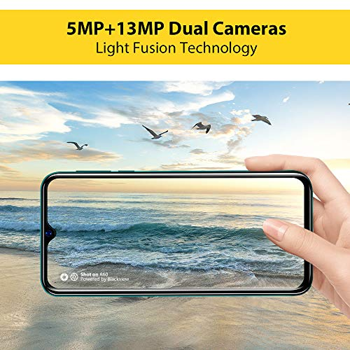 Mobile Phone, Blackview A60 SIM-Free Smartphone Unlocked, 6.1-Inch IPS Full-Screen, 16GB Dual SIM Android 8.1 Unlocked Mobile Phone, 4080mAh Battery, 5MP+13MP Dual Camera, UK Version - Black Img 2 Zoom