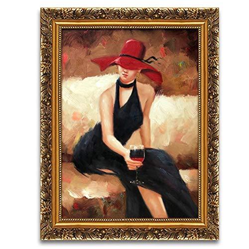 Jenify Wohndekorationen, Schlafzimmer dekorative Malerei Moderne Leinwand Gemälde Dekorationen Wandkunstdekoration Plakate mit Fotorahmen,PM4