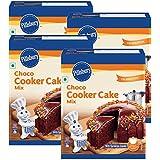 Pillsbury Cooker Cake Mix - Chocolate (Eggless) - 159g x Pack of 4, 636g