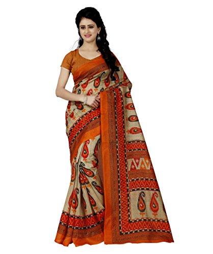 Trendz Style Bhagalpuri Silk Saree(TZ_1091_A)  available at amazon for Rs.449